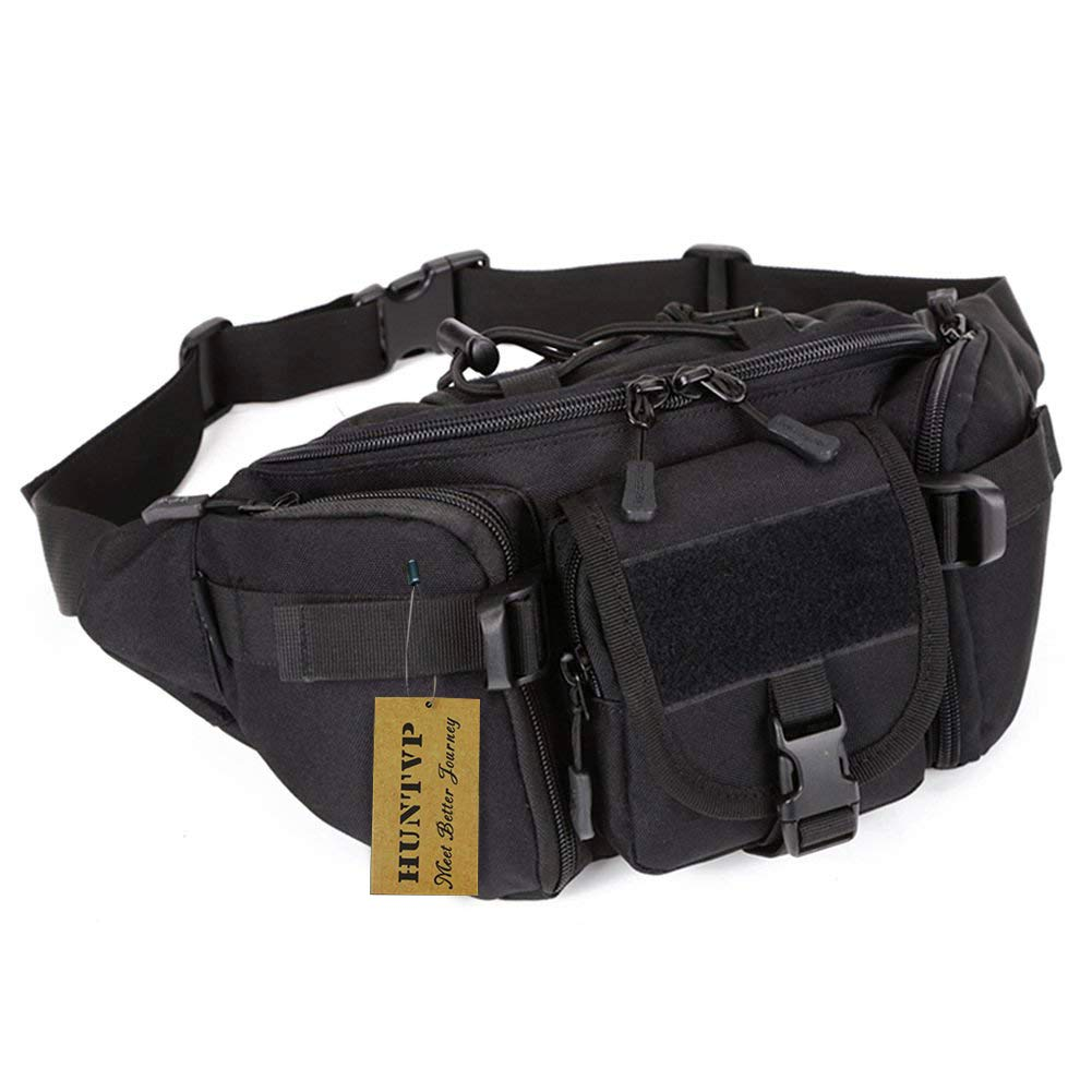 a73412cfc737 Huntvp Waist Bag Tactical Military Wasit Pack Molle Bumbag Fanny Bags  Waterproof Bum Bag for Outdoors Daily Use Hiking Camping Running Walking