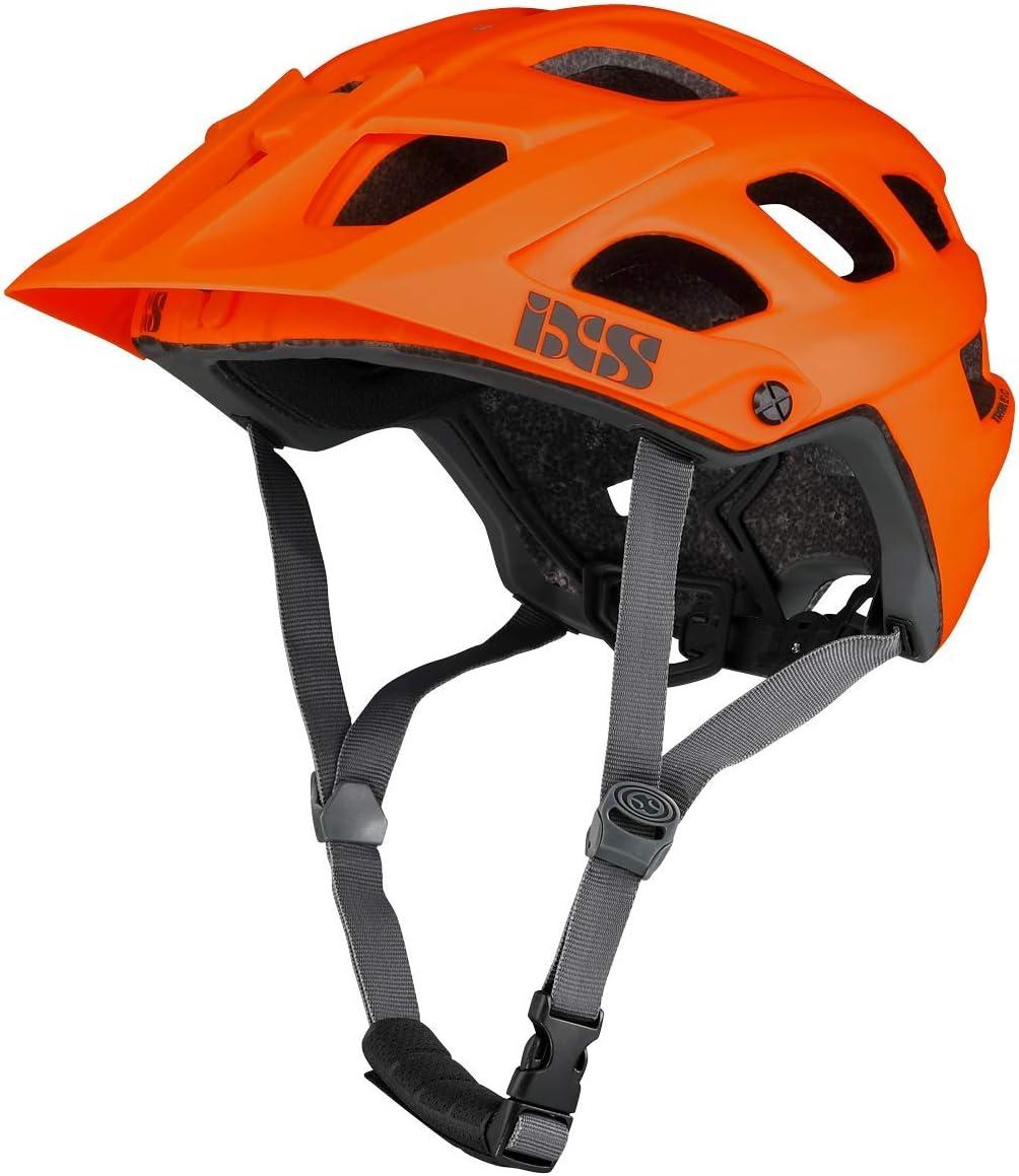 IXS RS EVO - Casco de Bicicleta de montaña para Adulto, Unisex, Color Naranja, XL (58-62 cm)