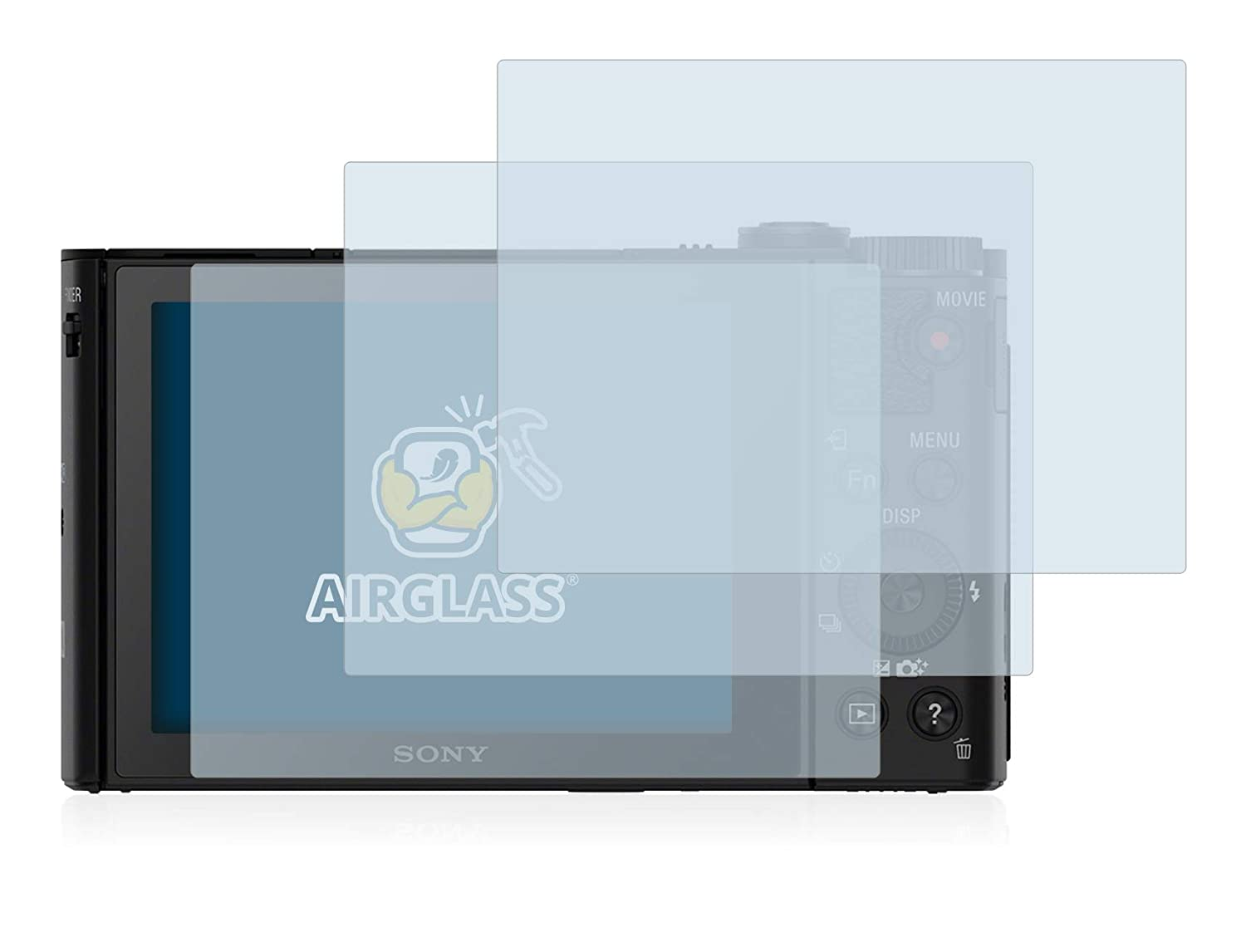 BROTECT Glass Screen Protector compatible with Sony Cyber-Shot DSC-HX90-9H Hardness Airglass