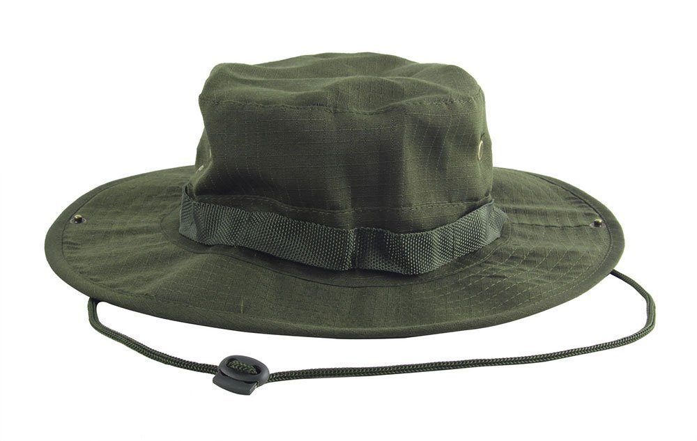 ILJILU Tactical Head Wear/Boonie Hat Cap For Wargame,Sports,Fishing and Other Outdoor Activties (Olive Drab)