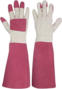 YAUNGEL Rose Pruning Gardening Gloves,ThornProof Long Sleeve Garden Gauntlet Gloves for Men /& Women Brown and Multicolor Extra Long Forearm Protection Puncture Resistant
