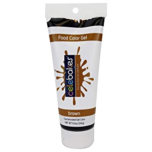 Celebakes by CK Products Brown Food Color Gel, 8.5 oz Tube