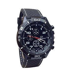 LuckUK Men's Sport Watches,Man Boy Sport Quartz Watch Military Watches Men Silicone Band Hours Wristwatch (D)