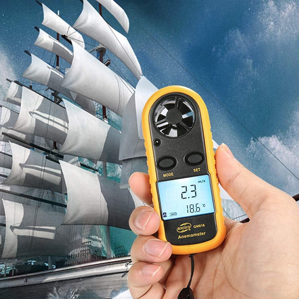 Mini LCD Digital Anemometer Windgeschwindigkeitsmesser Messgeräte Test Tool B2G1