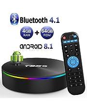 T95Q Android 8.1 TV BOX 4GB RAM 64GB ROM Amlogic S905X2 Quad-core Cortex-A53 Bluetooth 4.1 HDMI 2.1 H.265 4K Risoluzione 1000M Ethernet 2.4GHz e 5GHz Dual Band WiFi Video Player