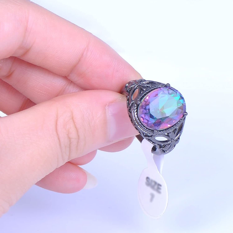 Bamos Jewelry Womens Rainbow Lab Stone Promise Ring Engagement ...