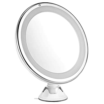 7X Magnifying Lighted Makeup Mirror Oak Leaf 360 Rotating Bright Shaving  Bathroom Vanity Mirror. Amazon com   7X Magnifying Lighted Makeup Mirror  Oak Leaf 360