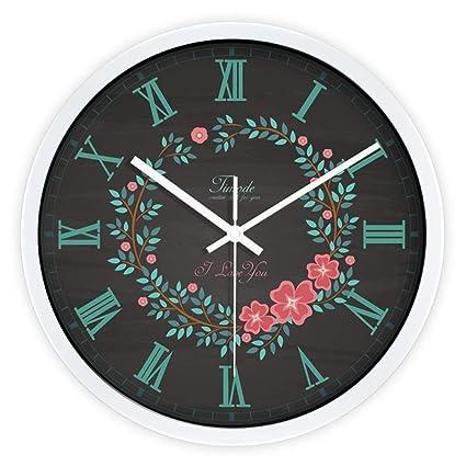 WQEWEW Globo Creativa Moderna réplica Reloj silencioso Muro Decorativo Pegatinas decoración Reloj Reloj de Pared para