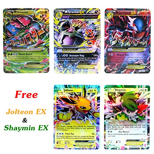Gardevoir Costume (New Mega Cards EX Venusaur - Tyranitar - Gardevoir with Free Jolteon - Shaymin EX Trading Card Games with Box and Cards Sleeve Fast Shipping)