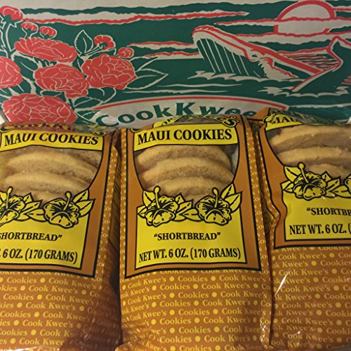 The Original Maui Hawaii CookKwees Cookies (Shortbread 3 pack)