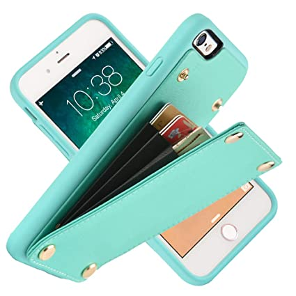 Amazon.com: Funda tipo cartera para iPhone 6, funda de piel ...