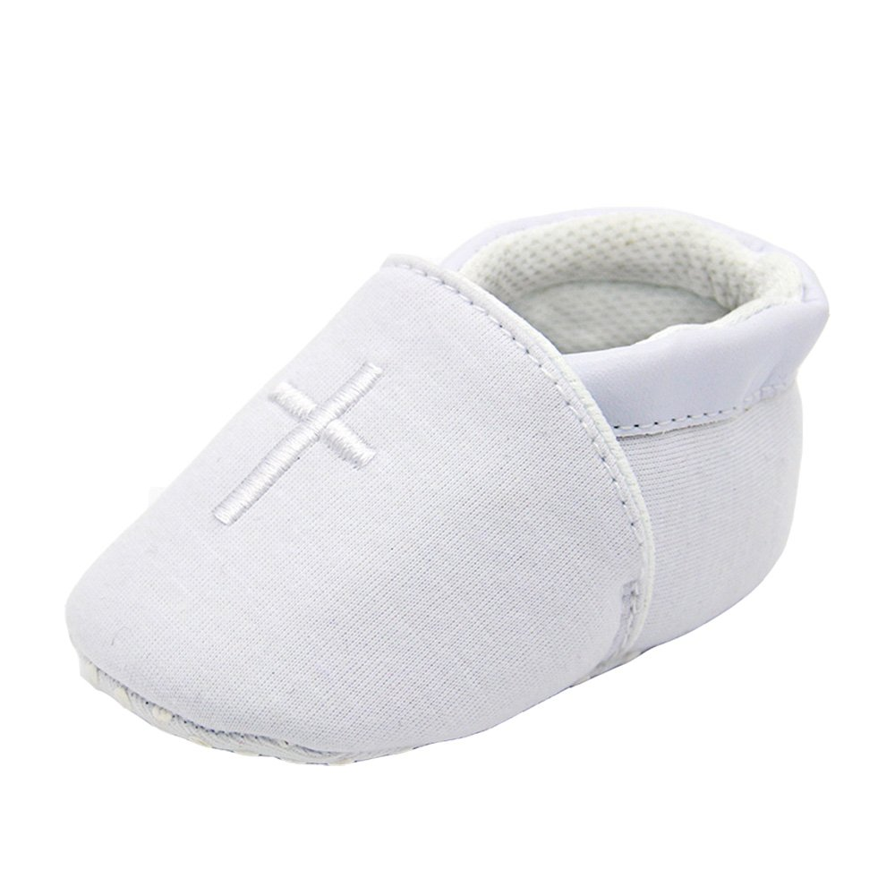 ESTAMICO Baby Boys Girls Premium Soft Sole Cross Baptism Toddler Shoes 6-12 Months by ESTAMICO
