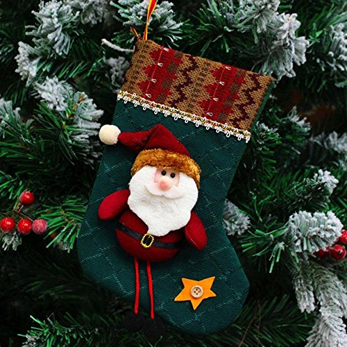 Christmas Xmas Stocking Sack Santa Snowman Reindeer Hanging Decor Christmas Gift (Santa Claus)