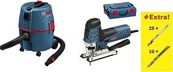 Bosch Sierra de calar GST 150 CE EN L-Boxx + 35 hojas de sierra + aspiradora GAS 20 L SFC: Amazon.es: Bricolaje y herramientas