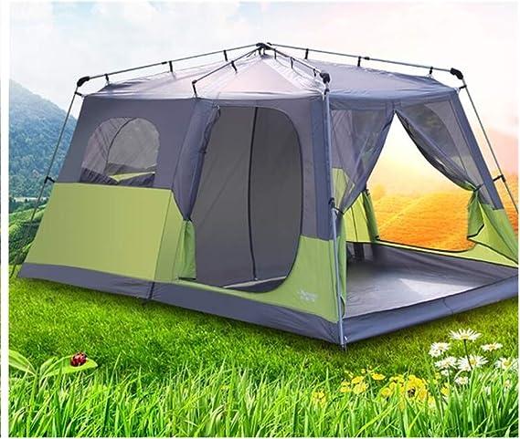 Zyh Tienda de campaña, Dos Habitaciones y una Sala de Estar al Aire Libre Tienda 5-8 Personas Camping Senderismo Pesca a Prueba de Viento Carpas Impermeables: Amazon.es: Deportes y aire libre