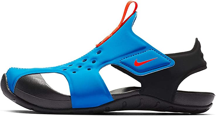 dialecto Mierda buffet  Amazon.com | Nike Kids Boy's Sunray Protect 2 (Little Kid) Photo  Blue/Bright Crimson/Black 1 Little Kid | Sandals