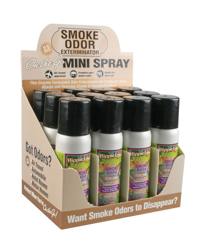 Hippie Love - 12pc Box - Smoke Odor Aerosol Spray