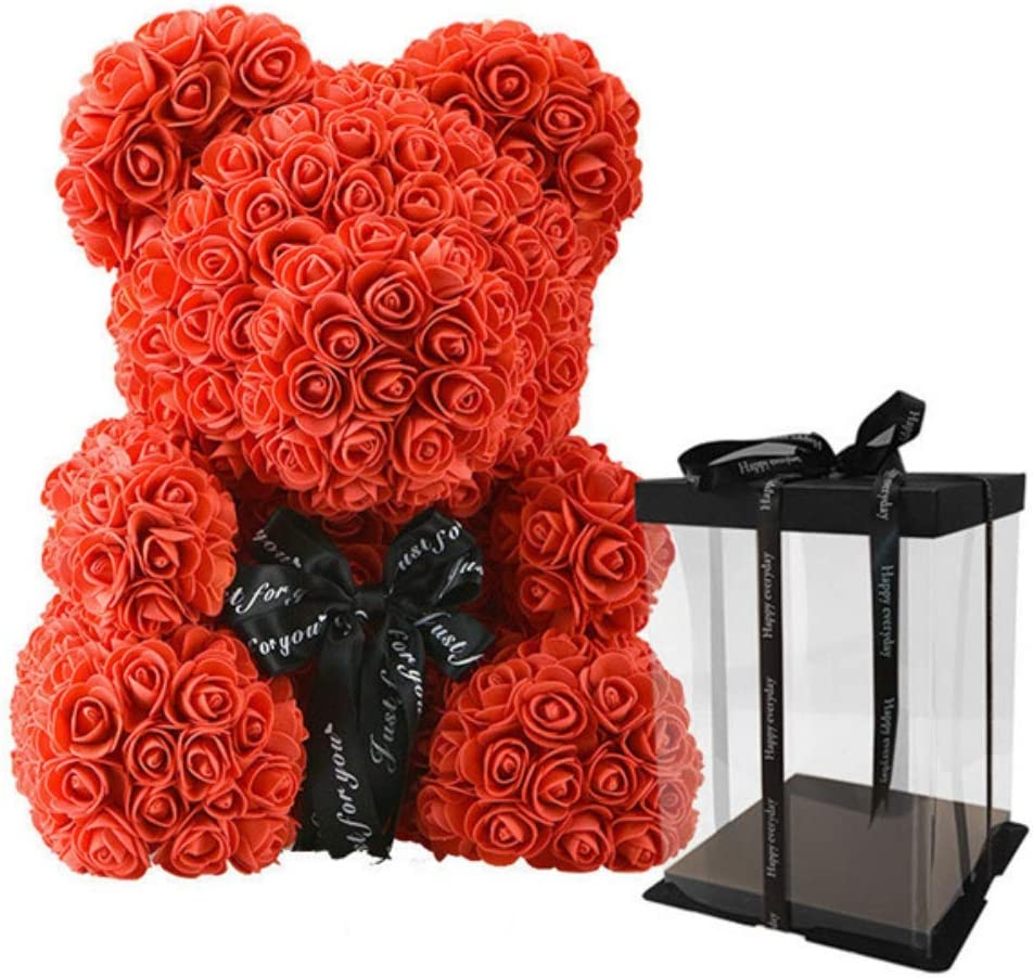 Red Rose Bear Flower Teddy Toy For Wedding Birthday Party Valentine/'s Day Gifts
