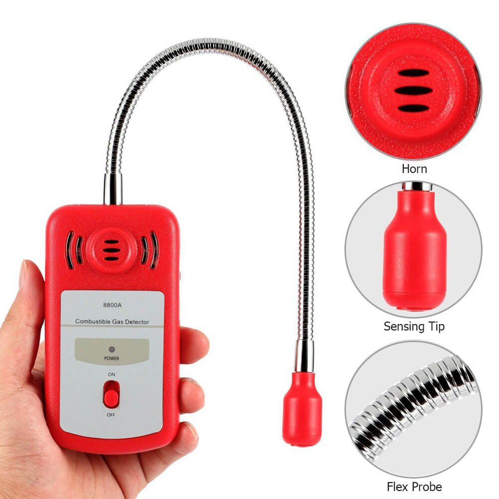 Combustible Gas Detector Portable Natural Gas Leak Detector Tester with Sound Light Alarm Gas Sniffer — Tektree by Tektree (Image #5)