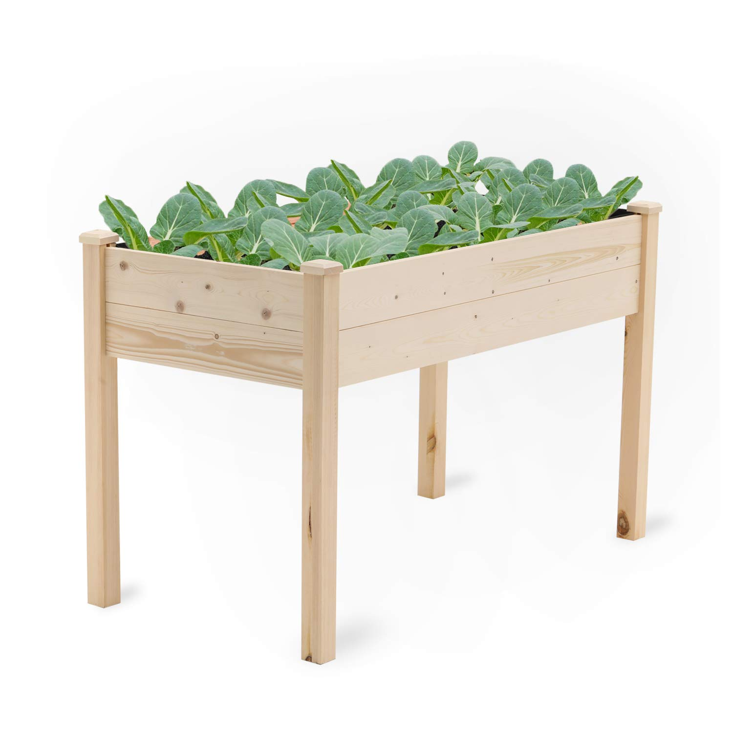 Pataku Raised Wooden Garden Bed Kit for Backyard,Patio Planting Bed 48.4 inches x30 inches x24.4 inches
