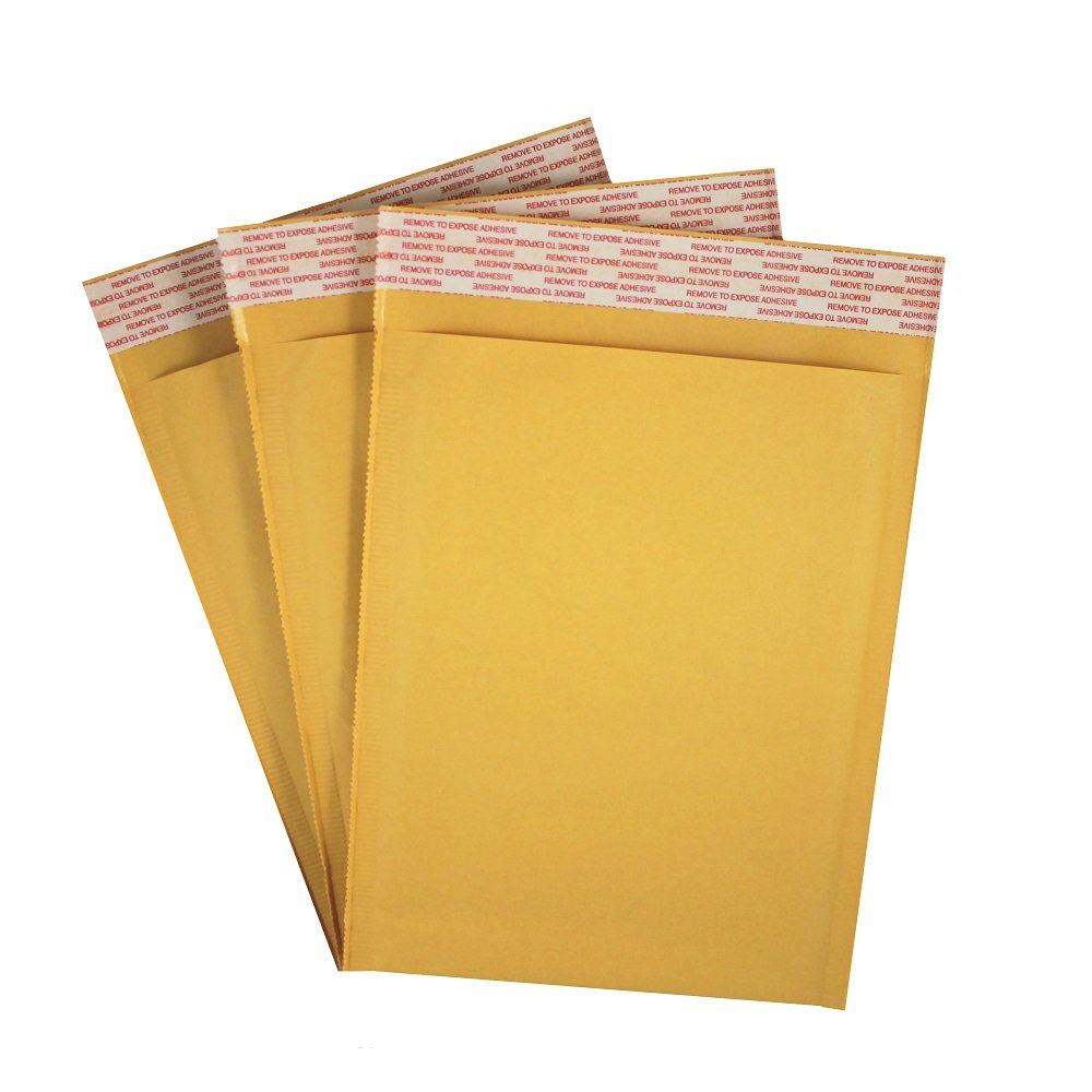 """1000 Pieces #0 6.5/"""" x 10/"""" Kraft Bubble Mailers Shipping Mailing Envelope Bags"""