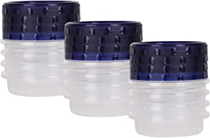 HomeyGear 12-Pack Twist Top Food Storage Containers | Leak-Proof, Airtight Soup Storage Canisters with Screw & Seal Lids | BPA-Free, Stackable, Reusable Kitchen Essentials | 8-Ounce