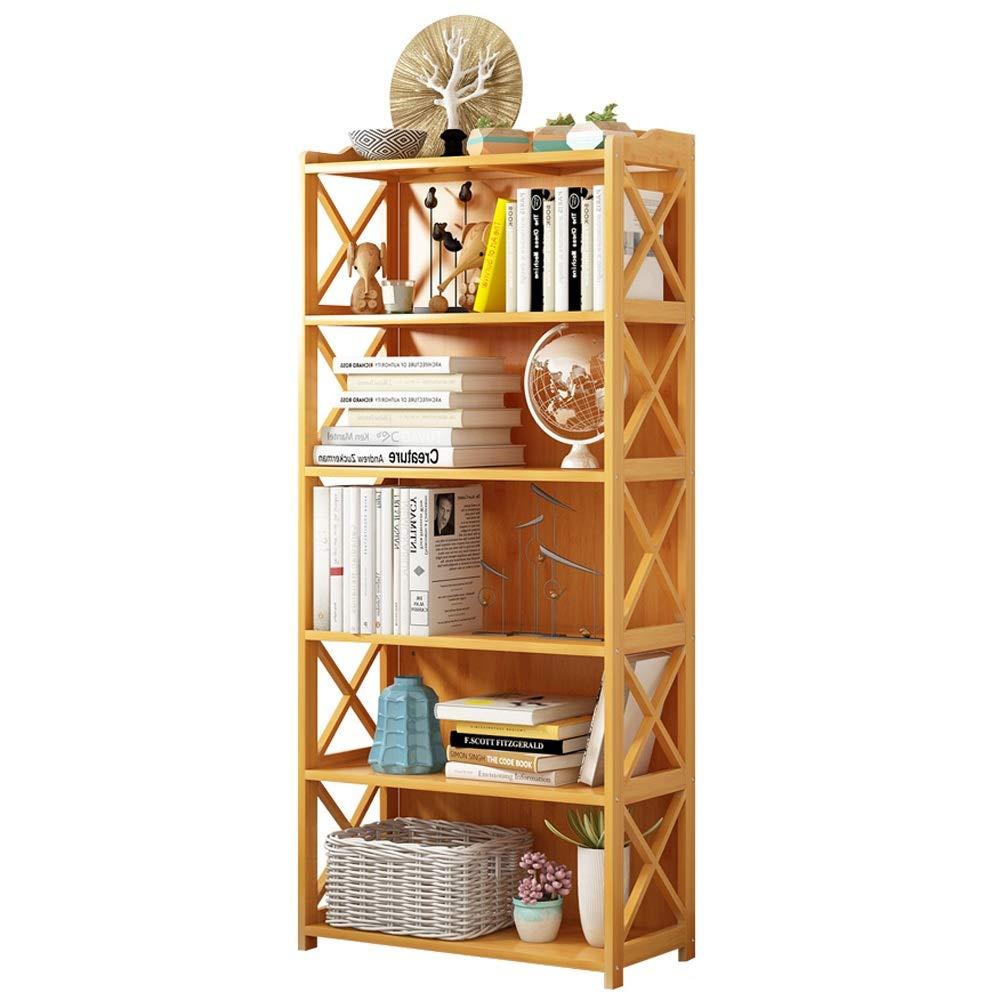 オープンシェルフラック 5-6層の家のための多目的多層竹製本棚 書棚 オープンシェルフラック (サイズ : Ordinary-6(42*25*157cm)) B07SFF28K4  Ordinary-6(42*25*157cm)