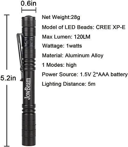 Small Aluminum 5000 Lumen Save Energy Pen Lamp For Outdoor Activities Torch AL