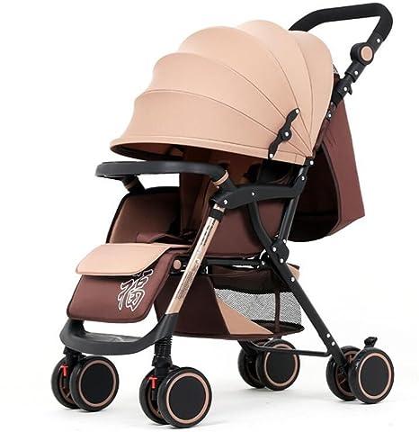 Cochecito De Bebé Ligero Plegable Carro De Bebé De Cuatro Ruedas Puede Sentarse Reclinable Cochecitos De