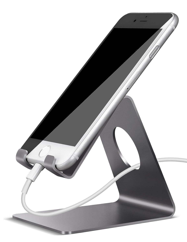 Supporto Telefono, Lamicall Dock Telefono : Universale Supporto Dock per Phone Xs Xs Max XR X 8 7 6 6S Plus 5 5S 4 4S, HUAWEI, Samsung S9 S8 S7 S6 S5 S4 S3, Scrivania, Altri Smartphone - Grigio