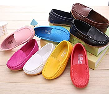 Toddler Kid Boys Girls Slip On Soft Loafers Casual Holiday Flats Boat Shoes