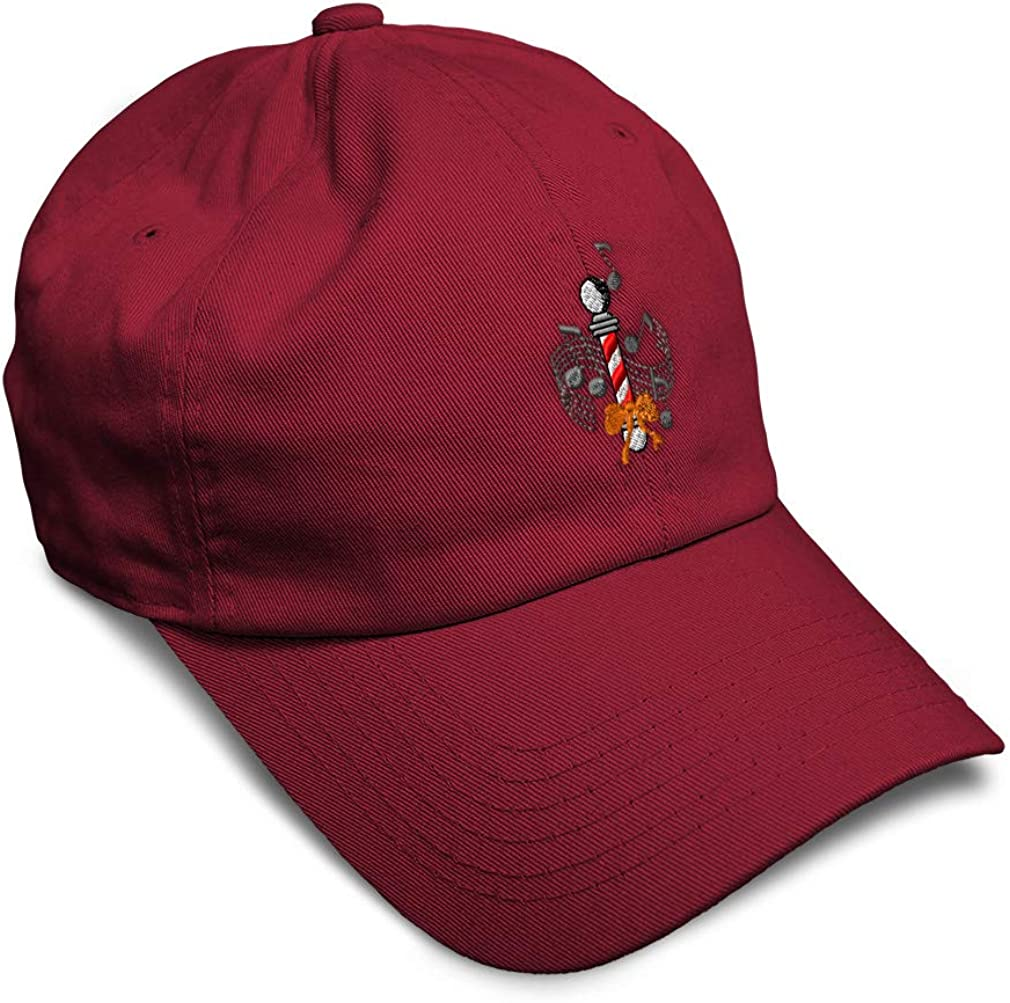 Custom Soft Baseball Cap Female Barbershop Quartet Embroidery Twill Cotton