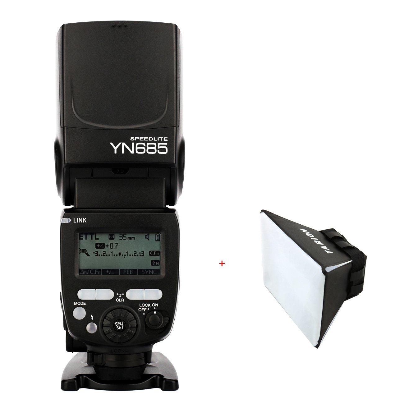 Yongnuo YN685 Speedlite GN60 1/8000 s 2,4 G Wireless TTL para la cámara réflex digital Canon es compatible con el sistema inalámbrico de YONGNUO 622C / 603 ...