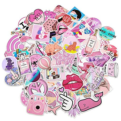 Cute Waterproof Aesthetic Trendy Stickers for Teens,Girls and Women Fits Water Bottle Laptop,Phone,Pad,Guitar,Bike,Luggage 103 pcs