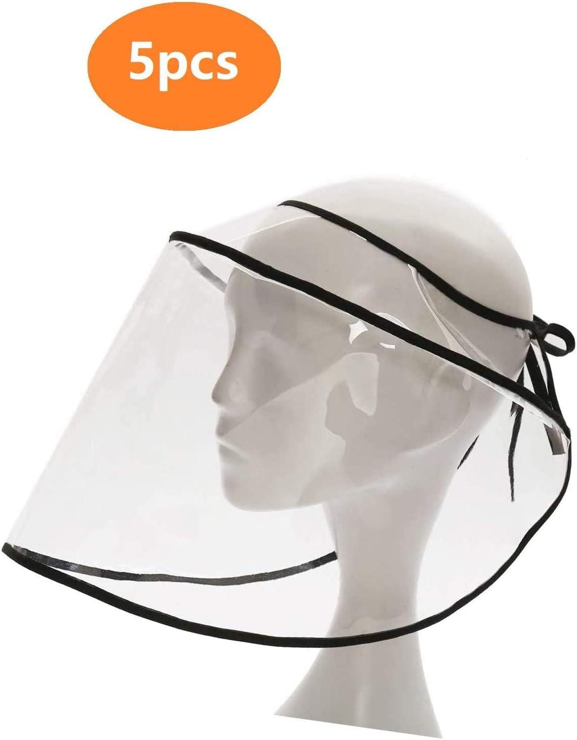 Anti-fog Cap Visor Saliva-proof Full Face Splash Protective Shield Clear Sun Hat