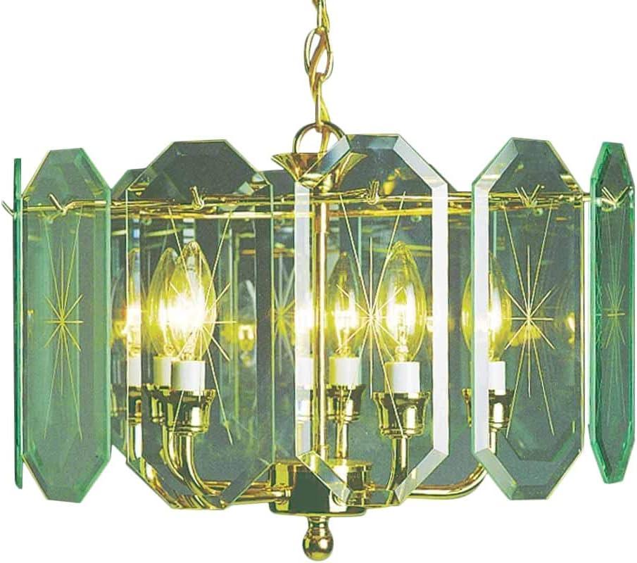 Nickel Finish 25.5 x 25.5 x 15 Volume Lighting V2275-62 Chandelier