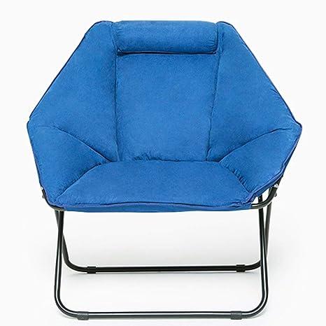 Blue Moon Chair Creative Lazy Suede Tela Plegable Tumbonas ...