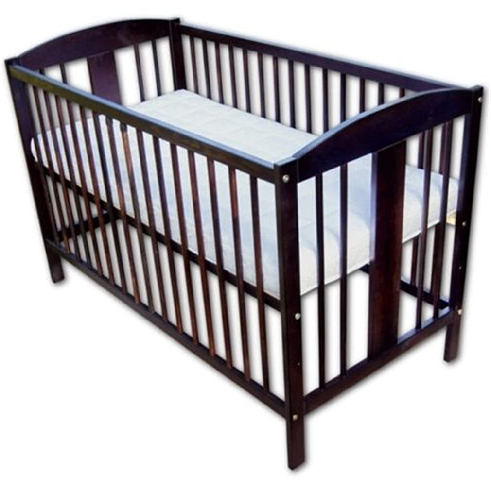 Babybett Kinderbett Wiegebett 120x60 Nußbraun mit Matratze Neu