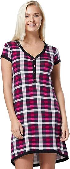 Imagen deHAPPY MAMA. Para Mujer camisón premamá Embarazo Lactancia Escote de Pico. 981p