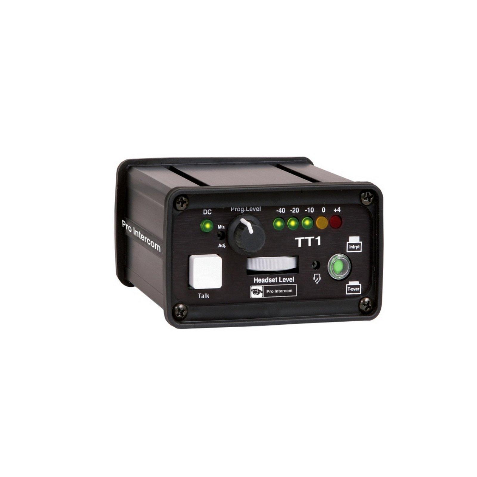 Pro Intercom TT1 | Single Circuit IFB Portable Headset Station by Pro Intercom