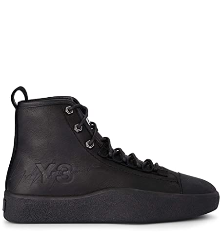a529df0a64efd adidas Y-3 Model Bashyo Ii Black Leather High Top Sneaker