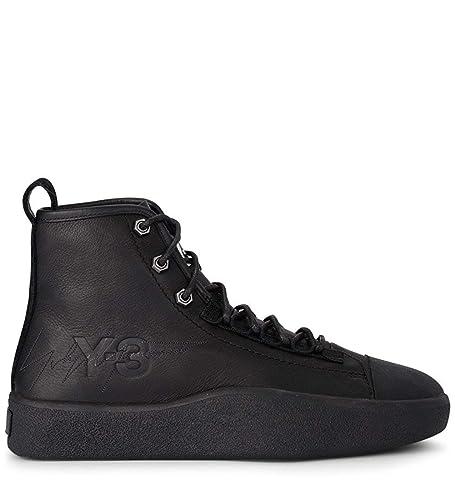 1c7bb4ab1 adidas Y-3 Model Bashyo Ii Black Leather High Top Sneaker