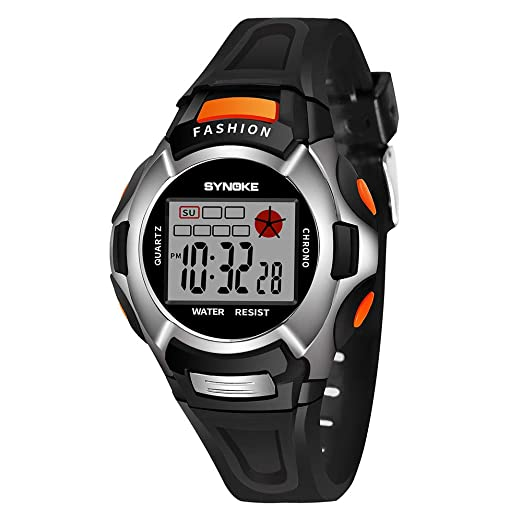 Kanpola Decoración Infantil Relojes,Children Boys Student Waterproof Sports Watch LED Digital Date Wristwatch: Amazon.es: Relojes