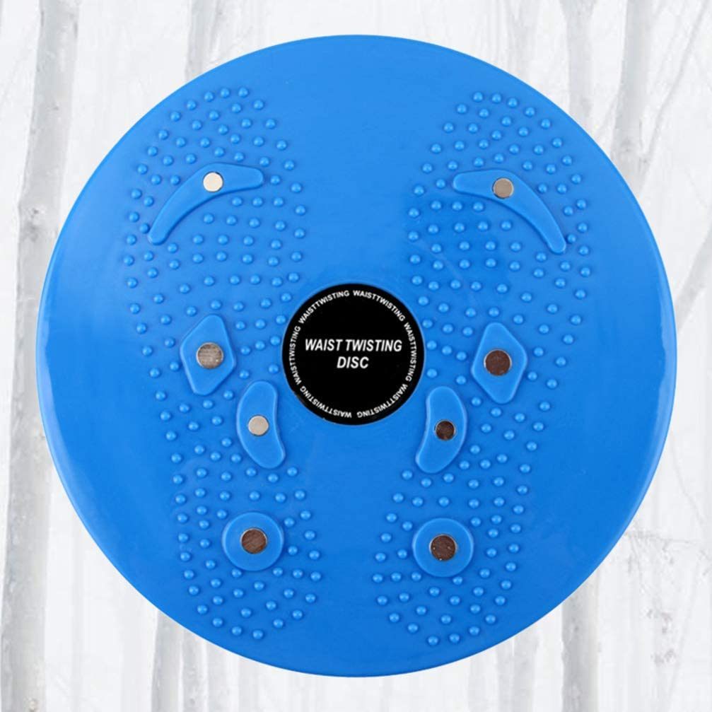 Blue Garneck Balance and Fitness Training Board Twister Board for Exercise Waist Twisting Disc