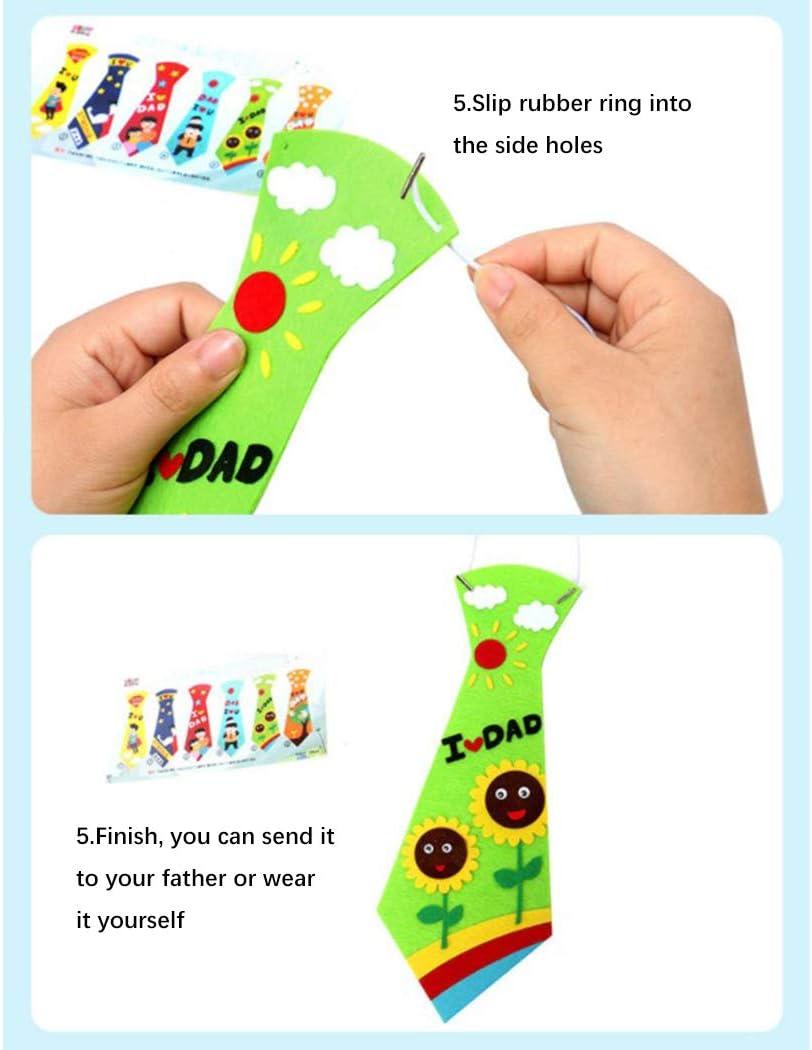 Joyibay 6 Sets Bricolaje Corbata Creativo Educativo Niños ...