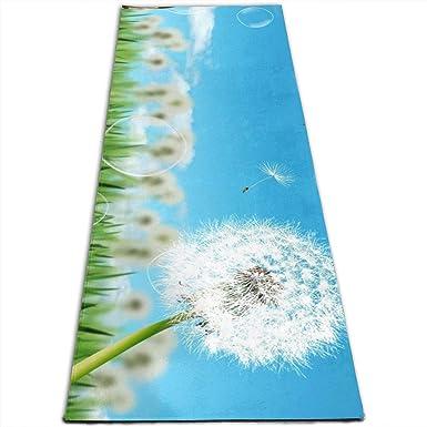 Amazon.com: Yoga Mat Eco Thick Premium PVC Dandelion Pilates ...