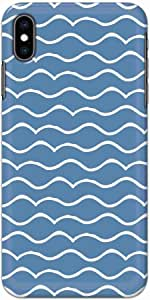 Okteq thin slim fit case forApple Iphone XS Max - wave white blue by Okteq