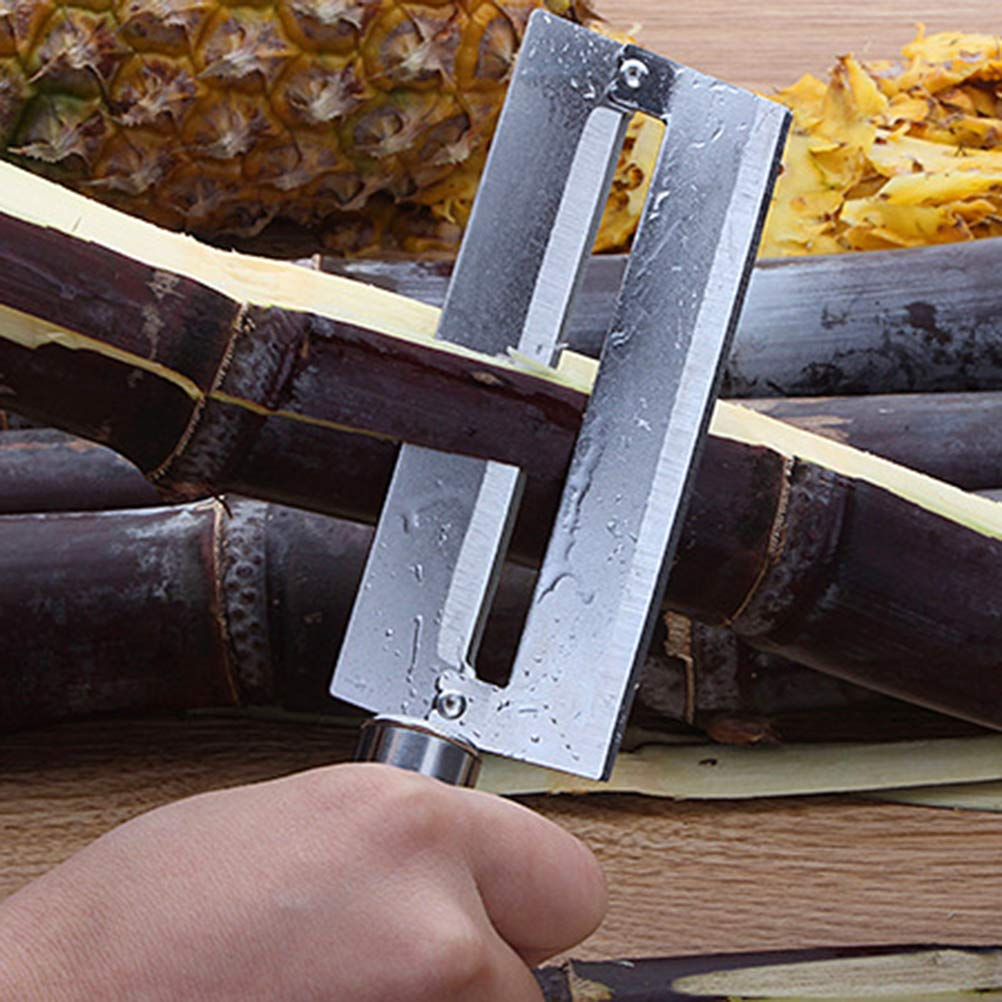 BSETONZON 1pc in acciaio inox Sharp sbucciatura coltello frutta ananas canna da zucchero pelapatate coltello taglierina attrezzo della cucina per la cucina di casa