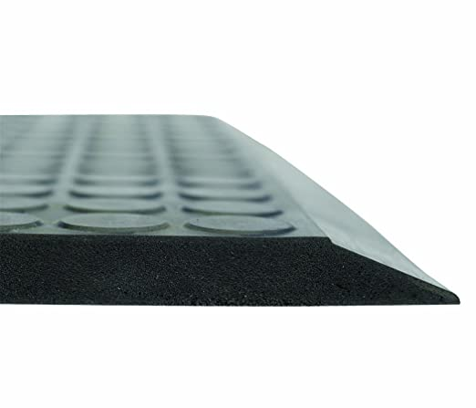 Gray Ergomat Polyurethane Anti-Fatigue and Anti-Static Mat for Dry and Damp Areas 2 Width x 3 Length x 0.62 Thickness