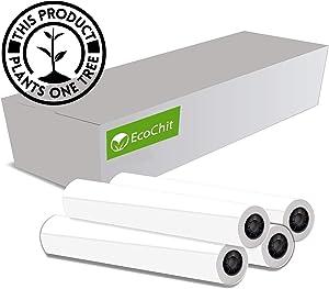 "EcoChit 24"" x 150' CAD Inkjet Bond Paper Rolls, 92 Bright 20lb, 2"" core, 4 Rolls per Case"